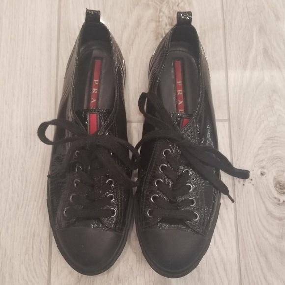 966383c3a00 prada sneakers women black patent leather. M 5b97d56f409c15dd2171548f